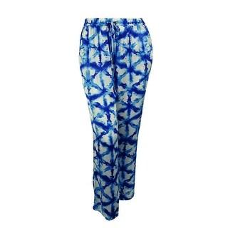 Michael Kors Women's Tie-Dye Elastic Waist Wide-Leg Pants