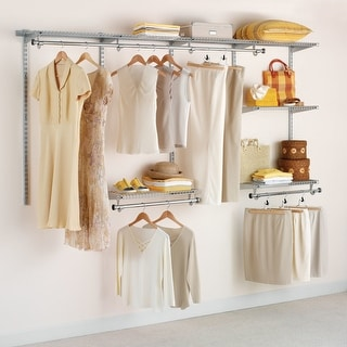 Rubbermaid FG3G5902  Configurations Adjustable Wall Mounted Closet System with 4 Shelves