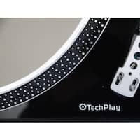 TechPlay IEP212 GR Leatherette Anti Static turntable mat in Gray