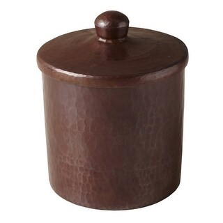 "Native Trails CPB34 4"" Handcrafted Copper Canister"