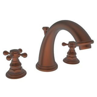 Newport Brass 890 Double Handle Widespread Bathroom Faucet with Metal Cross Hand