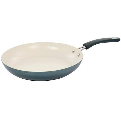 Oster 12 Inch Nonstick Aluminum Frying Pan in Dark Green