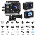 Indigi 4K Action CAM for Sports - Built In LCD - WiFi Viewing - Mounts Included - Thumbnail 0