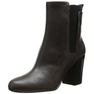 Nine West Womens Saga Leather Ankle Chelsea Boots