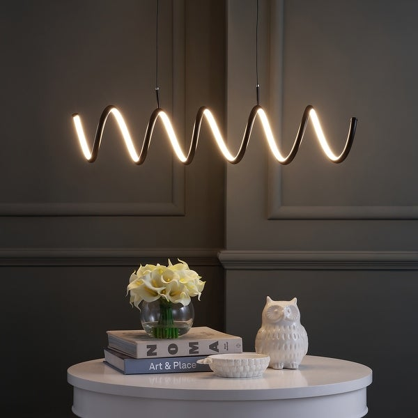 """Ali 31"""" Dimmable Adjustable Integrated LED Pendant by JONATHAN Y. Opens flyout."""