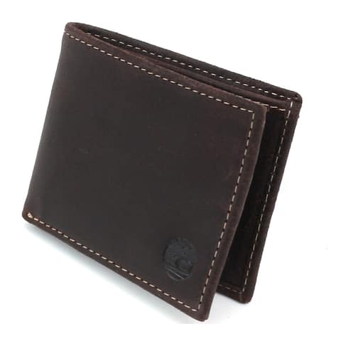 Timberland Men's Distressed & Rugged Delta Leather Slimfold Wallet - Brown - One Size