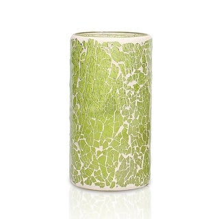 Light Green Mosaic LED Flicker Candle