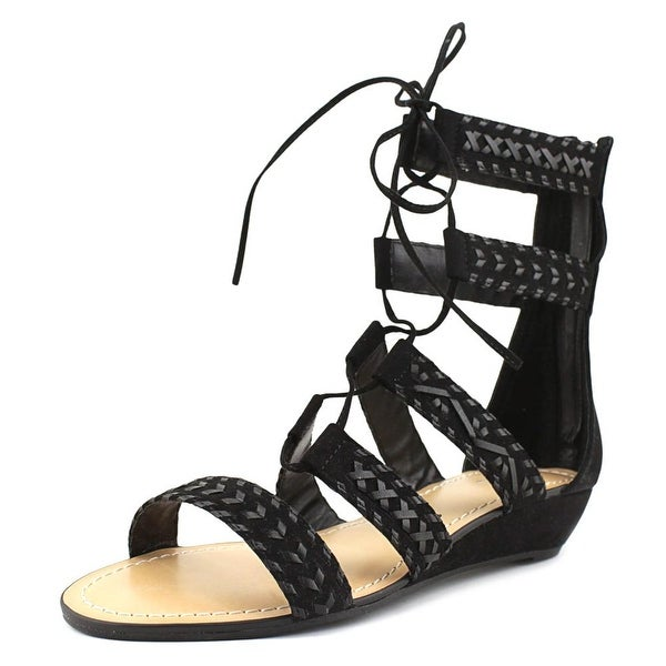 Carlos by Carlos Santana Kamilla Women Open Toe Canvas Black Gladiator Sandal