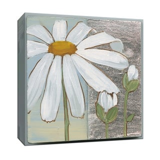 """PTM Images 9-152597  PTM Canvas Collection 12"""" x 12"""" - """"White Daisy Square III"""" Giclee Daisies Art Print on Canvas"""