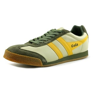 Gola Dual Harrier Women Round Toe Leather Fashion Sneakers