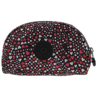 Kipling Womens Sweet Stuff Cosmetic Case Heart Print Travel - black heart print