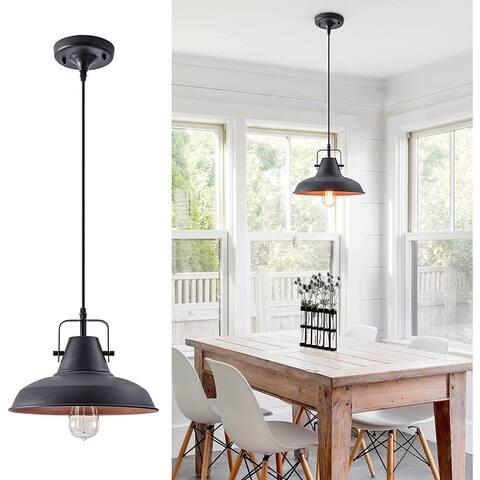 Retro Black Pendant Lamp Fixture Industrial
