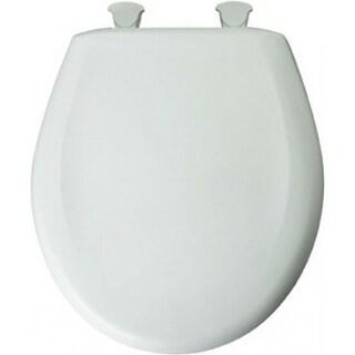Mayfair 20SLOWE-000 Round Plastic Toilet Seat w/ Easy-Clean & Change Hinge, White