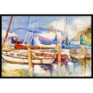 Carolines Treasures JMK1049JMAT End Stall Sailboats Indoor & Outdoor Mat 24 x 36 in.
