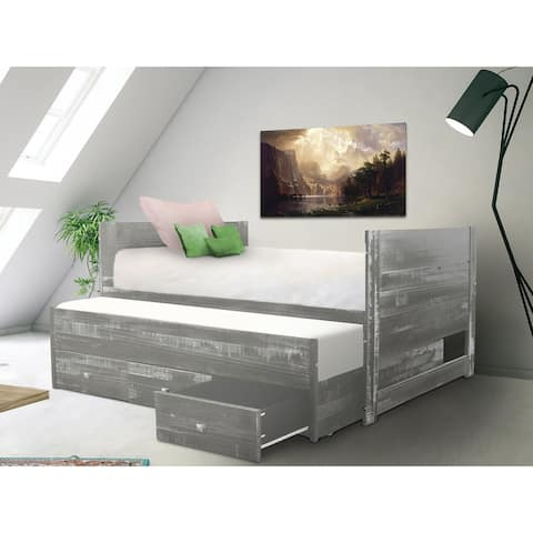 Taylor & Olive Begonia Twin Bed with Twin Trundle & 3 Built-in Drawers