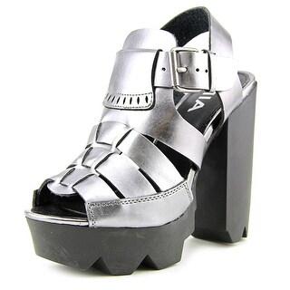 Mia Luka   Open Toe Synthetic  Platform Heel