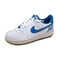 Nike Grade-School Air Force 1 Premium Low White/Photo Blue-Max Orange Fun House 344751-141 Size 5.5Y