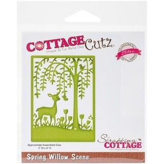 """CottageCutz Elites Die-Spring Willow Scene 3""""X4"""""""