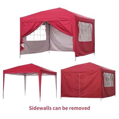Zenova 10x10 Pop Up Canopy Tent Instant Folding Shelter With 4 Sidewalls