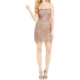 Jump Apparel Womens Juniors Semi-Formal Dress Sequined Sheath