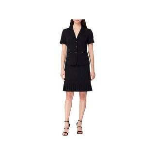 Tahari ASL Womens Petites Skirt Suit Ruffled Short Sleeves - 6P