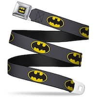 Batman Full Color Charcoal Yellow Black Batman Charcoal Yellow Black Seatbelt Belt