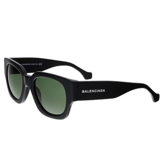 Balenciaga BA0011 01N Shiny Black Full-Rim Square Sunglasses