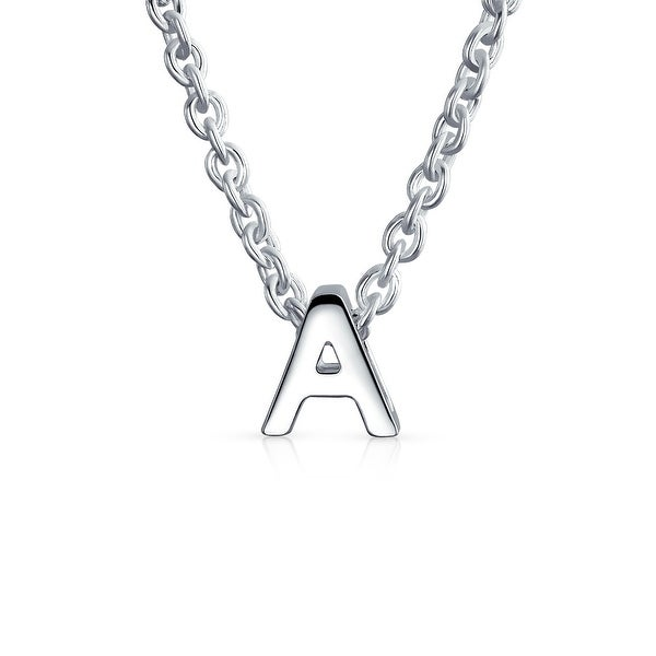 Beautiful Sterling silver 925 sterling Sterling Silver CZ Initial W Pendant