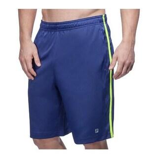 Fila Men's Camo Short Blue Depths/Safety Yellow