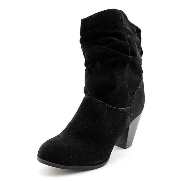 Rampage Womens TRIXEN Suede Round Toe Cowboy Boots
