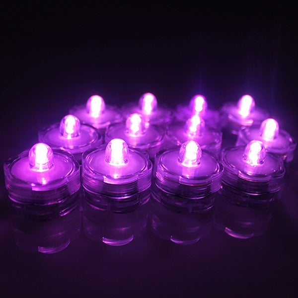 AGPtek 12x LED Submersible Waterproof Floral Decoration Tea Vase Battery light Candles