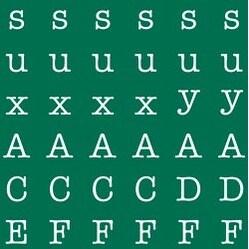 "Forest Green - Mini Alphabet Stickers 5.9""X5.9"" Sheet"