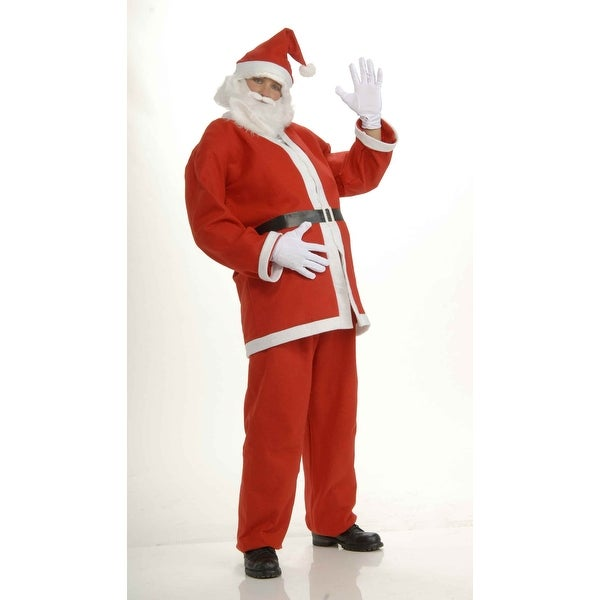 Santa Claus Adult Economical Costume Suit Standard - Red