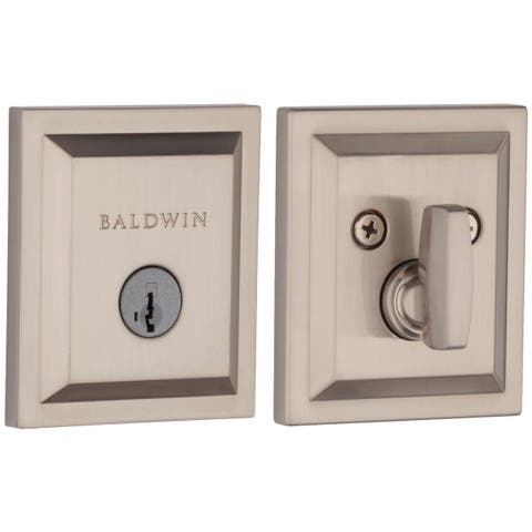 Baldwin 380SLB-SMT Torrey Pines Keyed Entry Single Cylinder Deadbolt with SmartKey Technology from the Prestige Collection