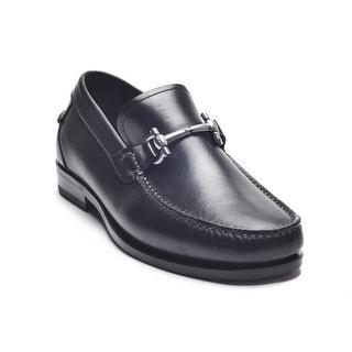 Salvatore Ferragamo Men Gancio Bit Shoes Loafers Slip Ons MS 84163 EEE Black