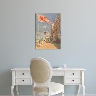 Easy Art Prints Claude Monet's 'The Hotel' Premium Canvas Art