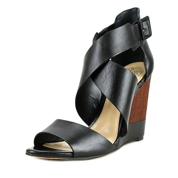 Vince Camuto Milena Women Open Toe Leather Wedge Sandal