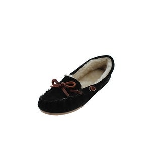 G.H. Bass & Co. Womens Moccasin Slippers Suede Indoor/Outdoor