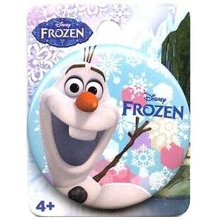 """Disney's Frozen 1.5"""" Button: """"Olaf Snowflakes"""""""