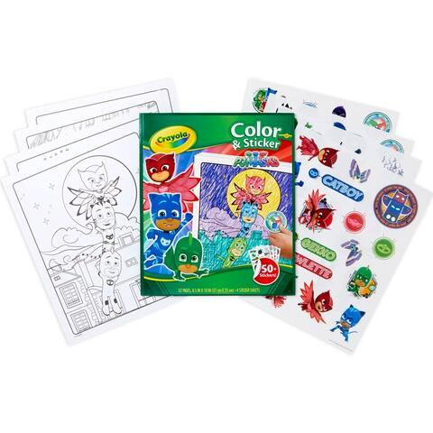 Color & Sticker Book, PJ Masks