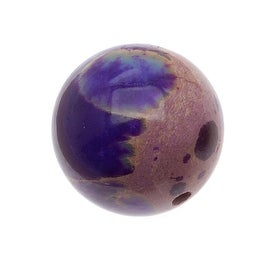 Purple Impression Jasper (Dyed) Round Gemstone Beads 12mm (6 Beads)