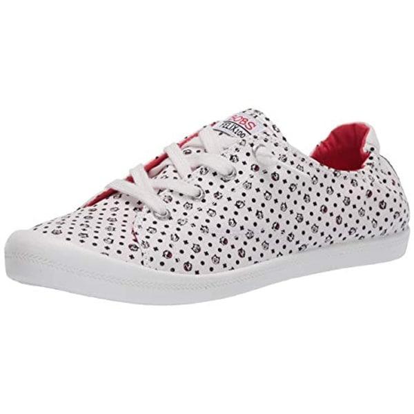 Cat Polka dot Sneaker, White Black