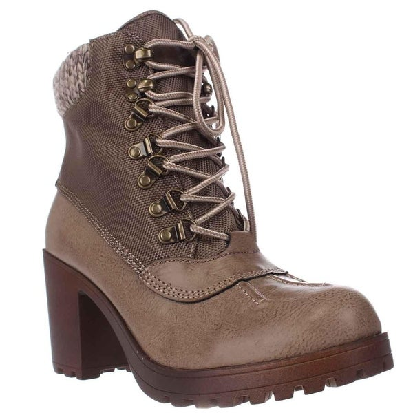Rock & Candy Mila Lug Sole High Top Ankle Boots, Taupe