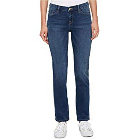 Tommy Hilfiger Women's Greenwich Mid-Rise Denim Straight Leg Jeans, Blue, 10