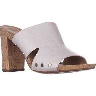 Franco Sarto Jeanette Heeled Mule Sandals, White