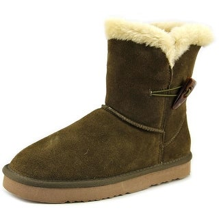 Style & Co Tiny Women Round Toe Suede Green Winter Boot