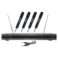 PYLE PRO PDWM5500 4-Microphone VHF Wireless Microphone System