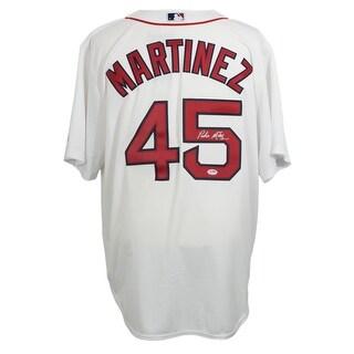 Pedro Martinez Signed Boston Red Sox Majestic White Baseball Jersey PSA DNA SI