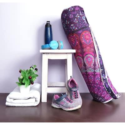 Oussum Fitness Yoga Bags Mandala Art Cotton Handmade Shoulder Strap Bag Elephant Print
