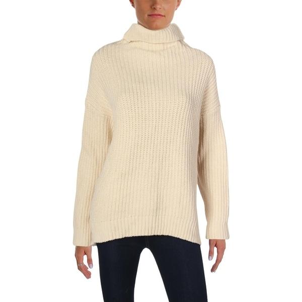 Shop Free People Womens Turtleneck Sweater Swim Too Deep Ribbed Trim